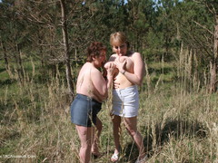 KinkyCarol - Lesbo Fun With Claire In The Woods Pt3 Gallery