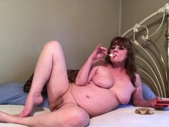 CougarBabeJolee - Naked Flirty Smoking Fetish HD Video