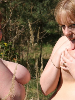 Lesbo Fun With Claire In The Woods Pt4
