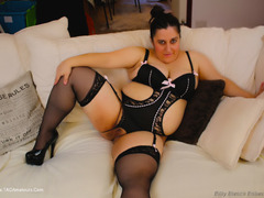 KimberlyScott - Satin Black Suspender Teddy Pt1 Gallery