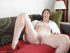 KatKitty - Red sofa teasing Gallery