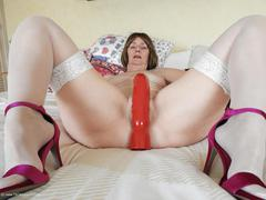 KatKitty - Big dildo fun Gallery