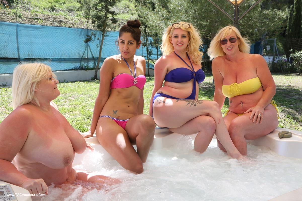 Hot tub orgy