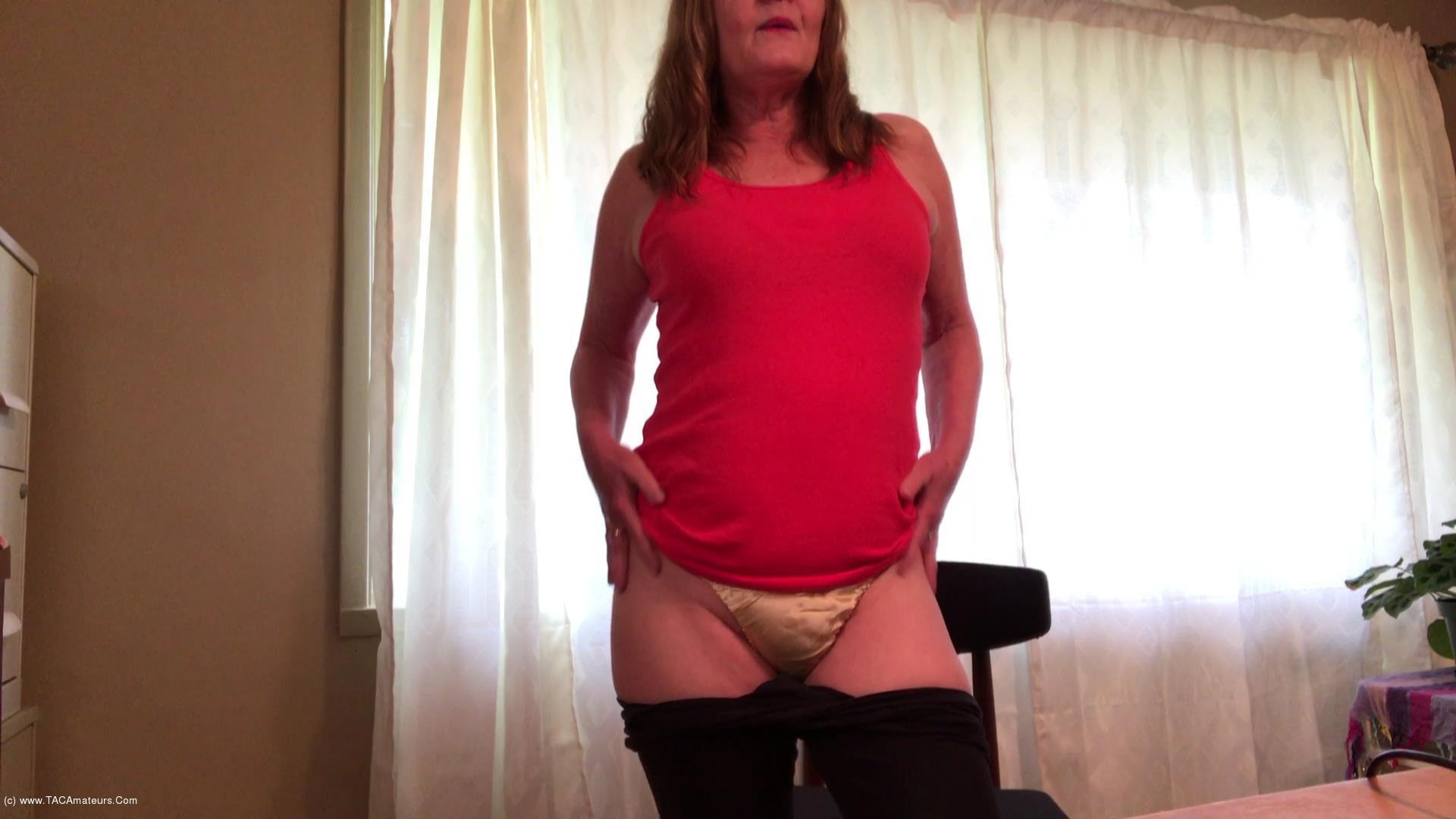 CougarBabeJolee - Panty Worship My New Yellow Pure Silk Panties scene 1