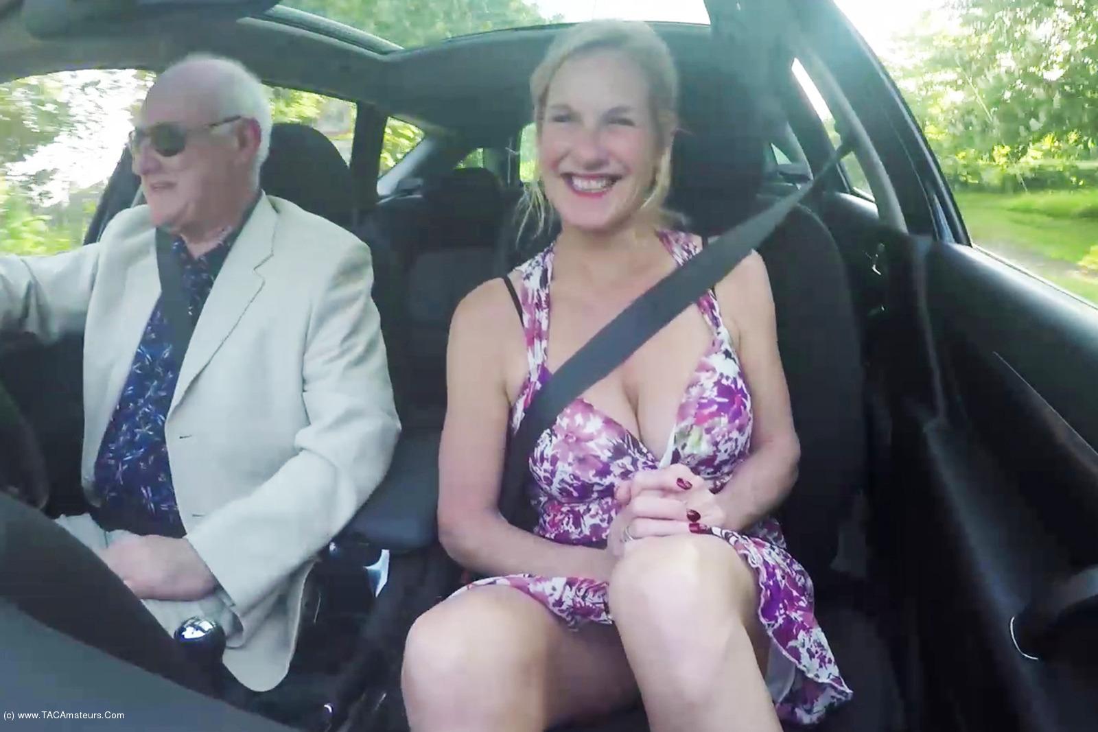 MollyMILF - Flashing In The Car scene 0