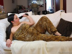 KimberlyScott - Leopard Print Safari Jump Suit Pt1 Photo Album