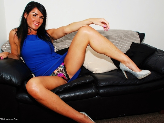 Raunchy Raven In Floral Panties & Short Blue Dress Pt1