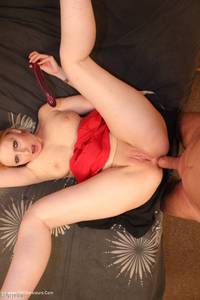 traceylain - Red Skirt Double Free Pic 3