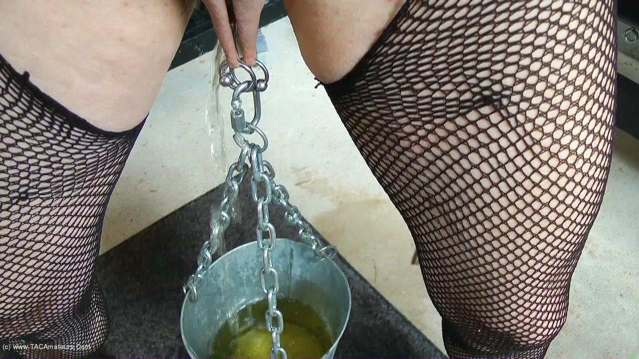 MaryBitch - Stretching Pussy Lips & Clit Masturbation scene 1