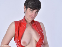 HotMilf - In Red PVC Photo Album