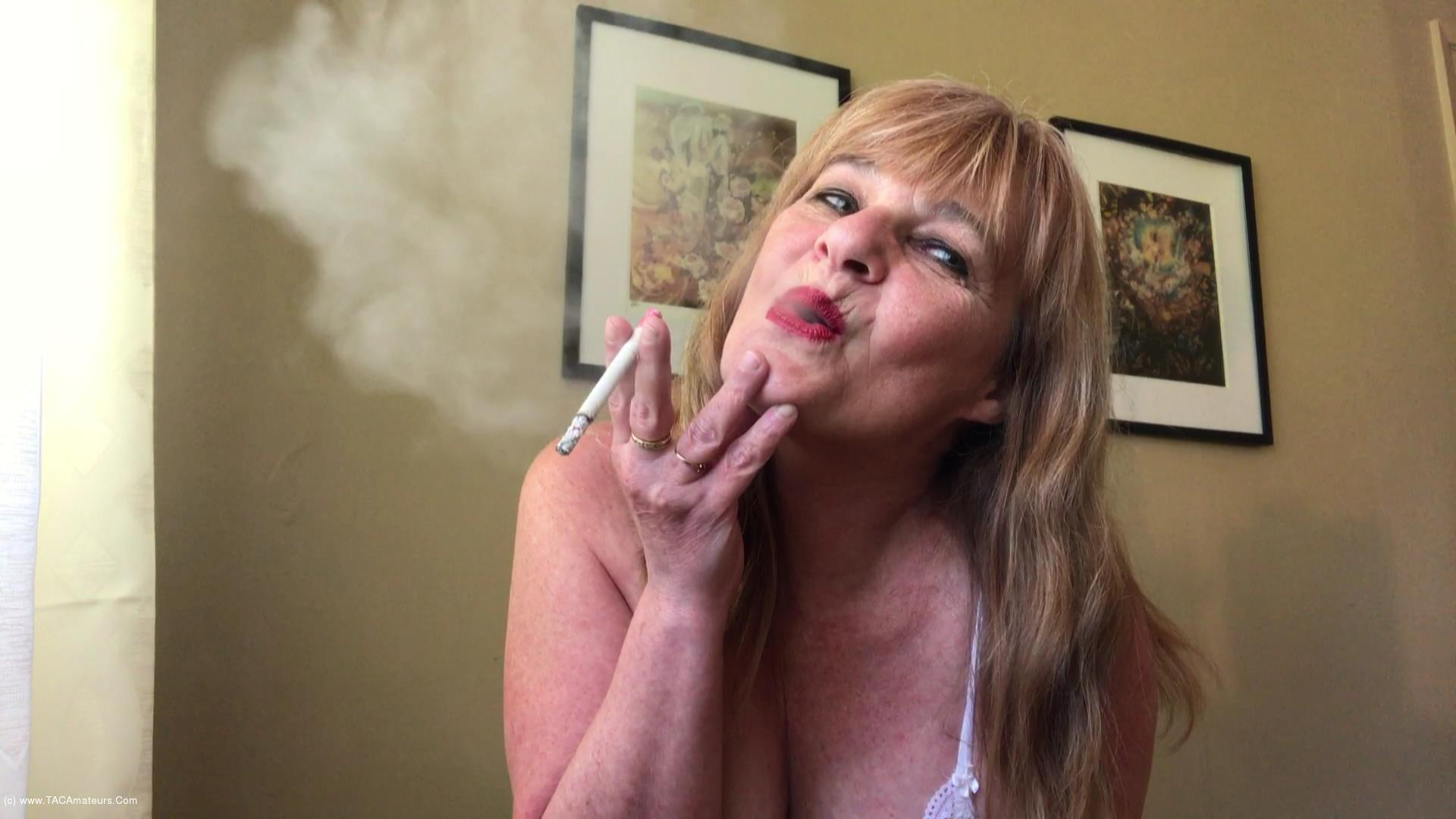 CougarBabeJolee - Smoking Flicking Ash On Your Hard Cock scene 0