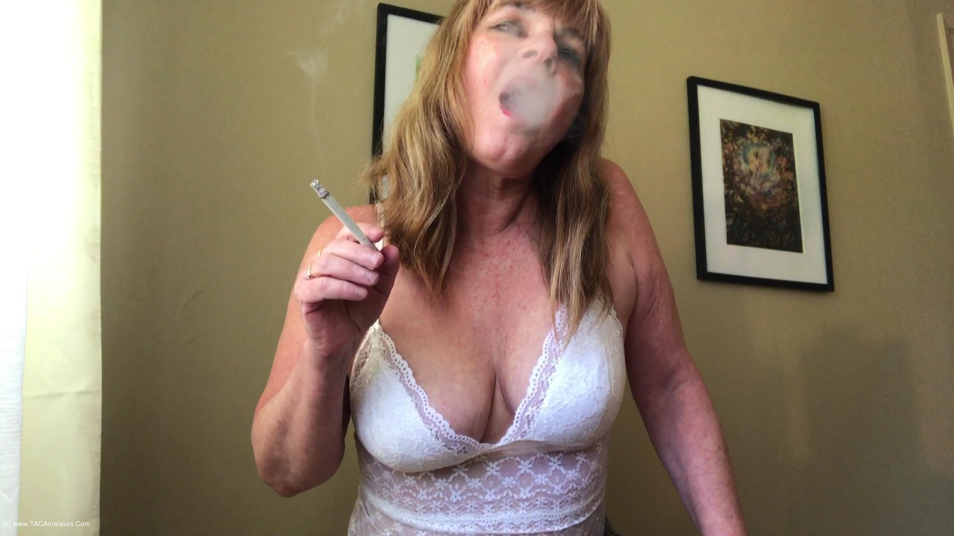 CougarBabeJolee - Smoking Flicking Ash On Your Hard Cock scene 1