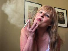 CougarBabeJolee - Smoking Flicking Ash On Your Hard Cock HD Video