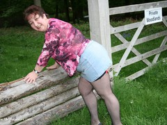 KinkyCarol - Denim Mini & Stockings Pt1 Gallery