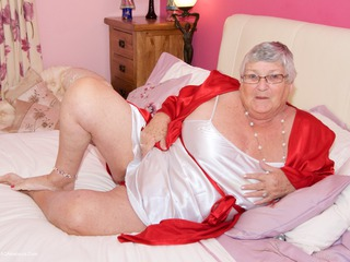 Grandma Libby On The Bed