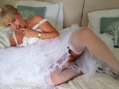 LornaBlu - Frilly Petticoat & Glass Dildo Gallery