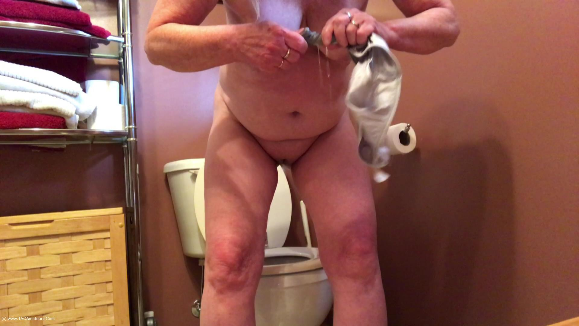 CougarBabeJolee - Pissing In My Satin Panties, Come Here Toilet Boy scene 3