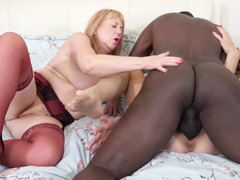 SpeedyBee - Interracial Threesome Pt4 HD Video