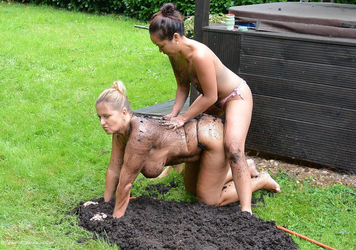 NudeChrissy - Two Hot Ladies In The Dirt scene 1