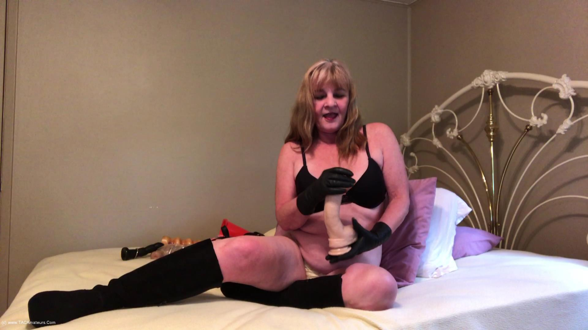 CougarBabeJolee - Masturbation Instructions Using My Hot Leather Gloves scene 0