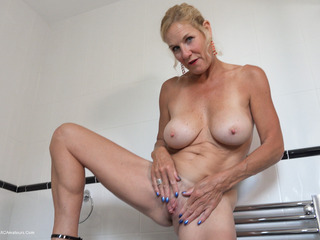 Molly MILF - Pissing On The Bathroom Floor HD Video