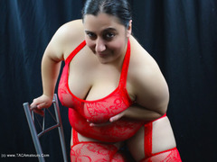 KimberlyScott - Red Bodystocking Pt1 Gallery