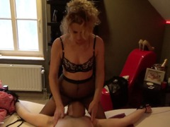 KyrasNylons - Pantyhose Facesitting Slave HD Video