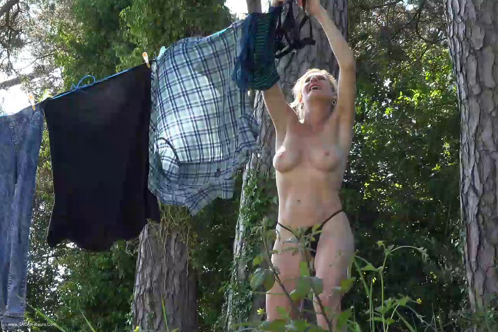 MollyMILF - Hanging Out The Washing scene 2