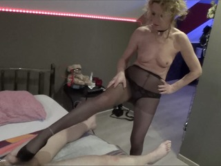Pantyhose Foot Lover With A S