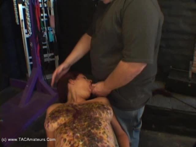 LavenderRayne - Lavender hot wax and cum facial scene 0