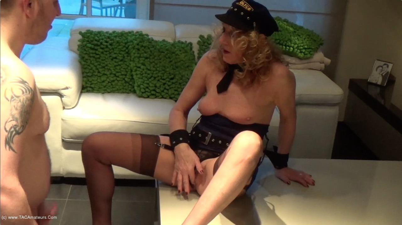 KyrasNylons - Cum On The Policewomans Legs scene 0
