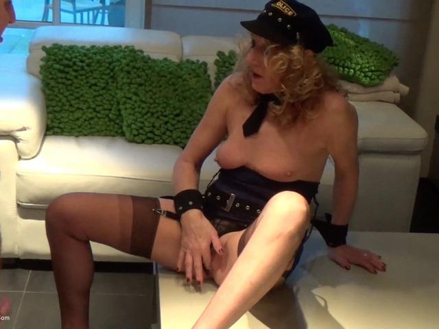 KyrasNylons - Cum On The Policewomans Legs