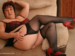 KinkyCarol - Black Stockings & Red Shoes Pt1 Gallery