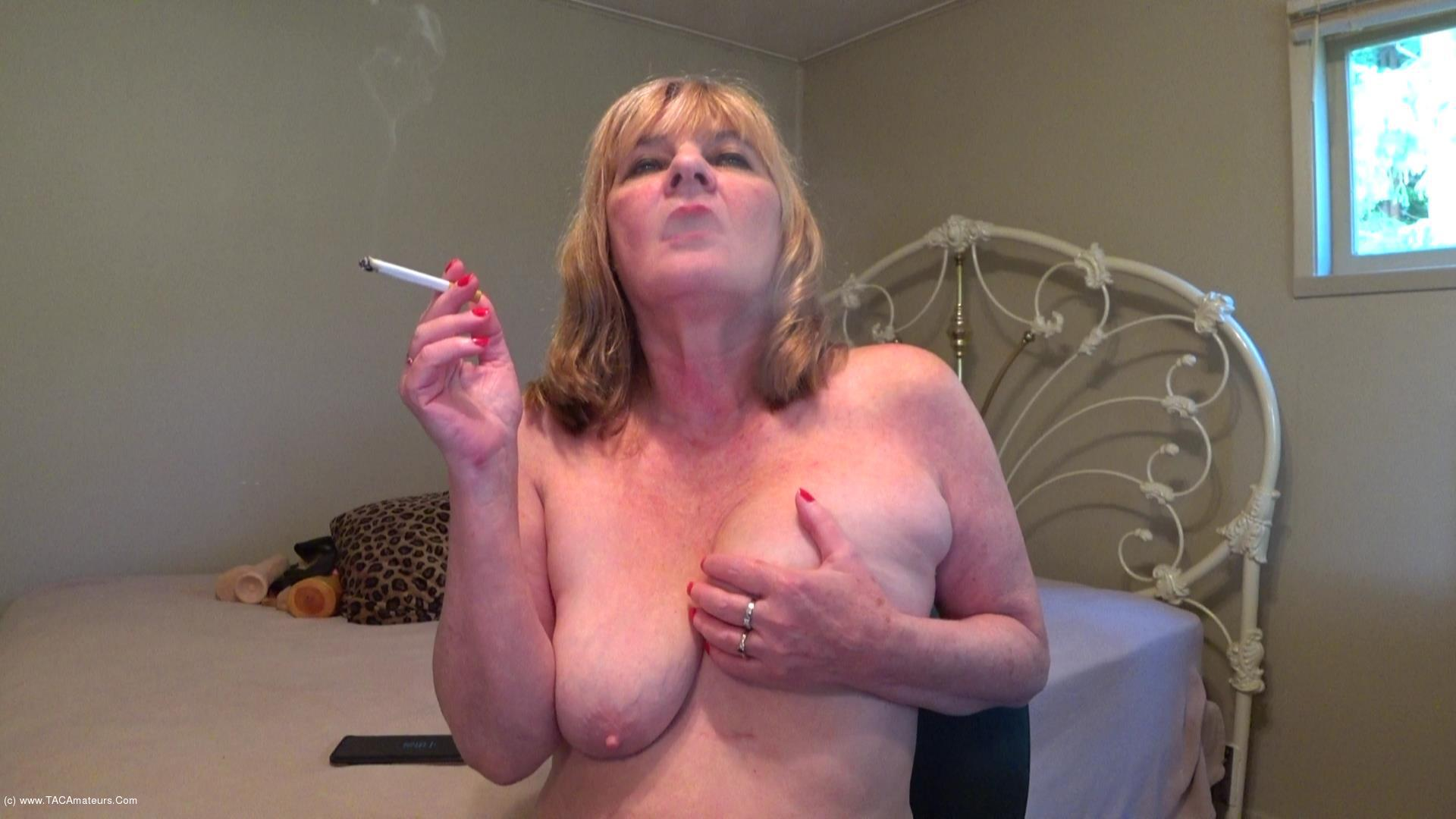CougarBabeJolee - Titty Play & Smoking scene 0