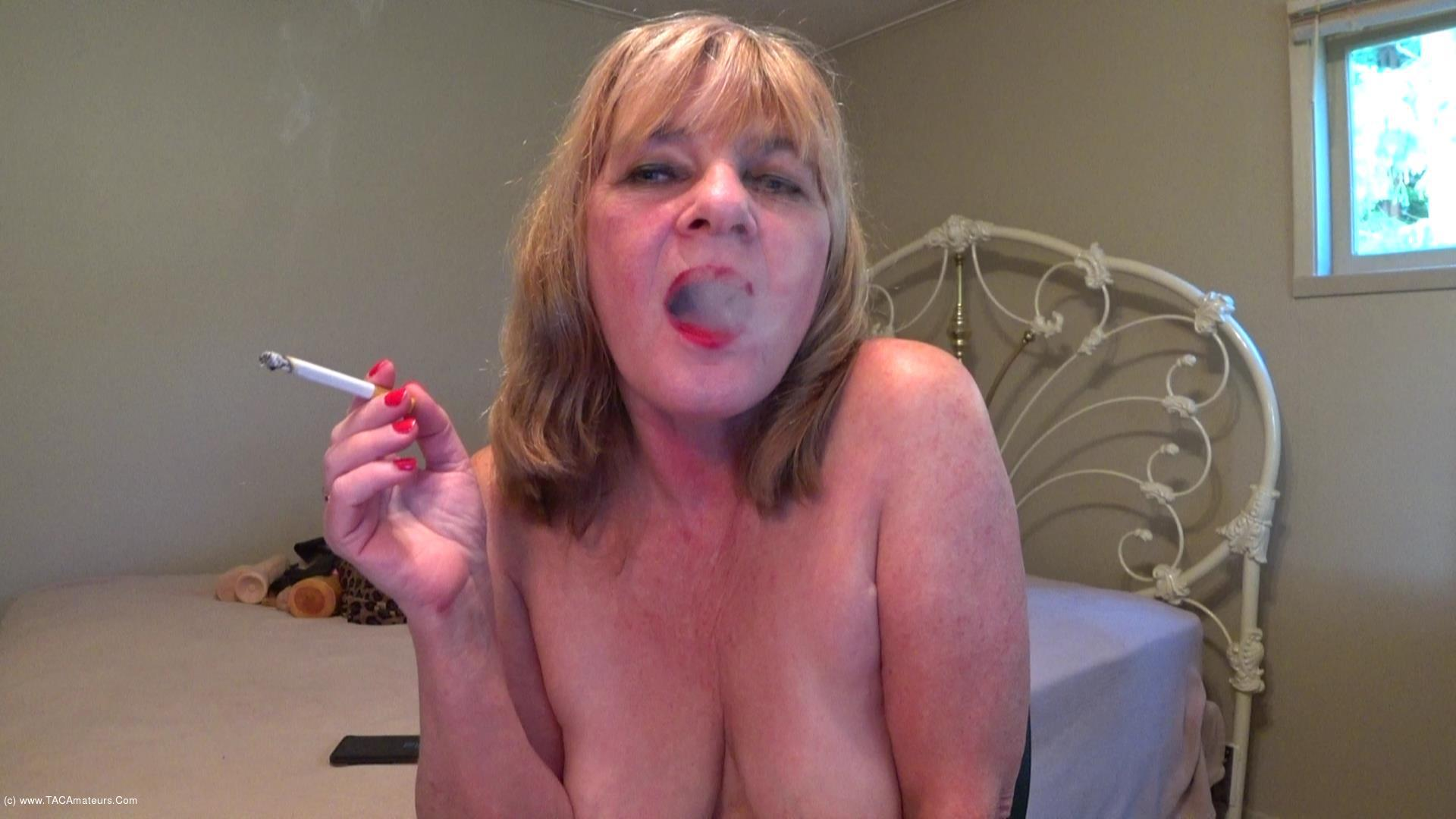 CougarBabeJolee - Titty Play & Smoking scene 2