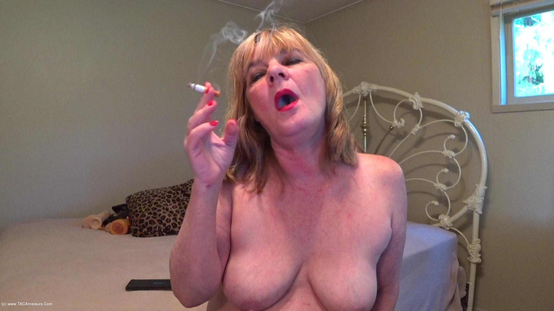 CougarBabeJolee - Titty Play & Smoking scene 3