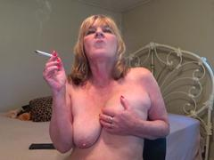 CougarBabeJolee - Titty Play & Smoking HD Video