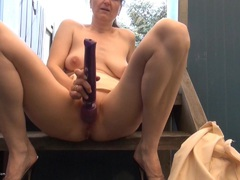HotMilf - Relaxing Outside HD Video