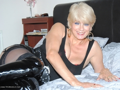 Dimonty - Black PVC THigh Boots Gallery