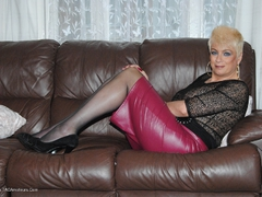 Dimonty - Pink Leather Skirt Gallery