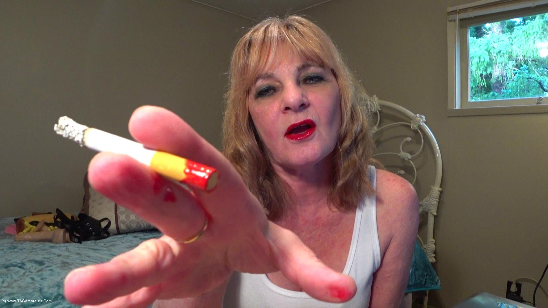 CougarBabeJolee - Smoking Shiny Red Lippy scene 1