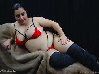 Red Lace Bra & Panties Pt1