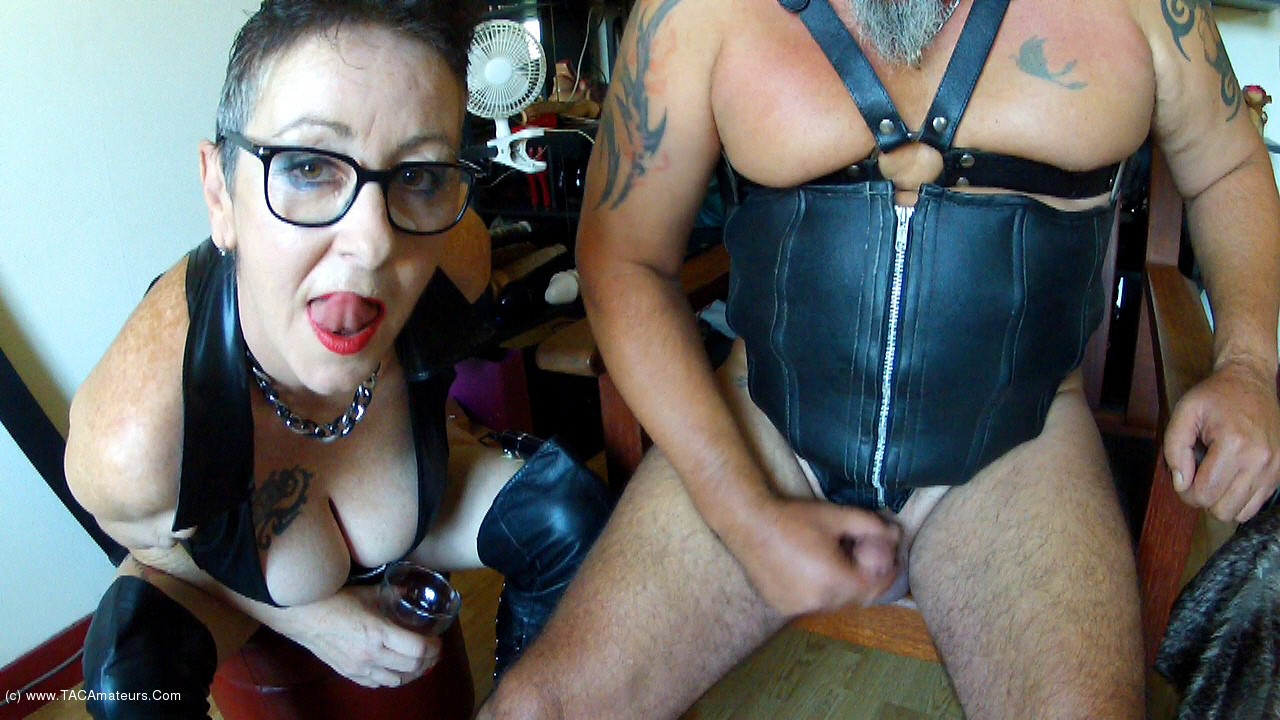 MaryBitch - Jerk Your Small Penis Swallow Your Cum scene 1