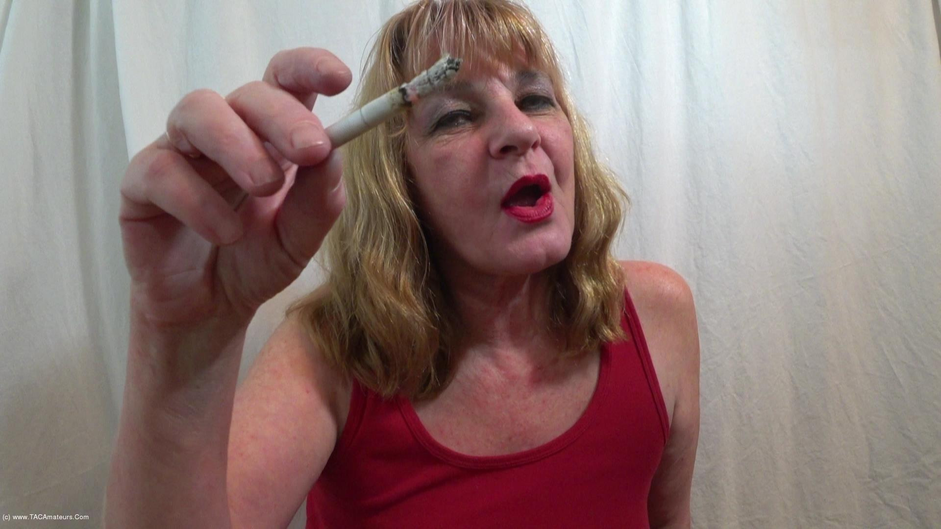 CougarBabeJolee - Smoking A Cigarette Using Your Cock As An Ashtray scene 3