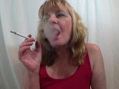 CougarBabeJolee - Smoking A Cigarette Using Your Cock As An Ashtray HD Video