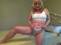 CougarBabeJolee - Pretty Satin Panties Worship HD Video