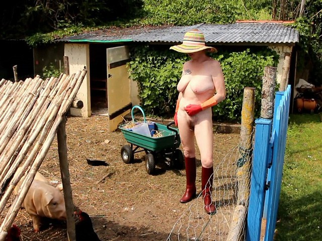 Working Naked With My Rubber Boots & Gloves Pt1