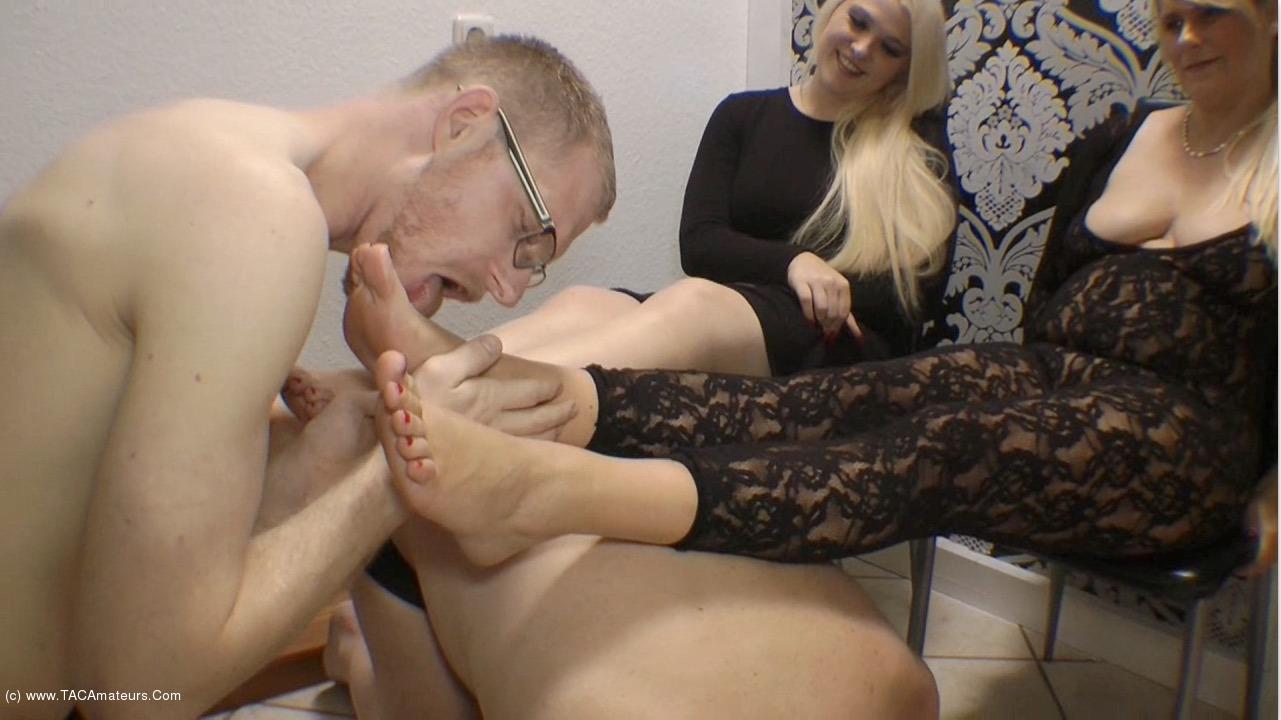 SweetSusi - Arm Wrestling Winner Licks My Feet scene 0