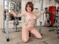 MistyB - Messing around in the gym pt2 Gallery