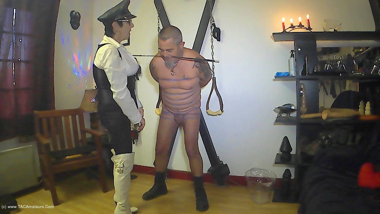 MaryBitch - BDSM Session With Rubber Bands Pt1 scene 1